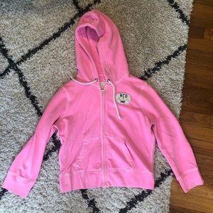 Neon Pink Cropped Hoodie